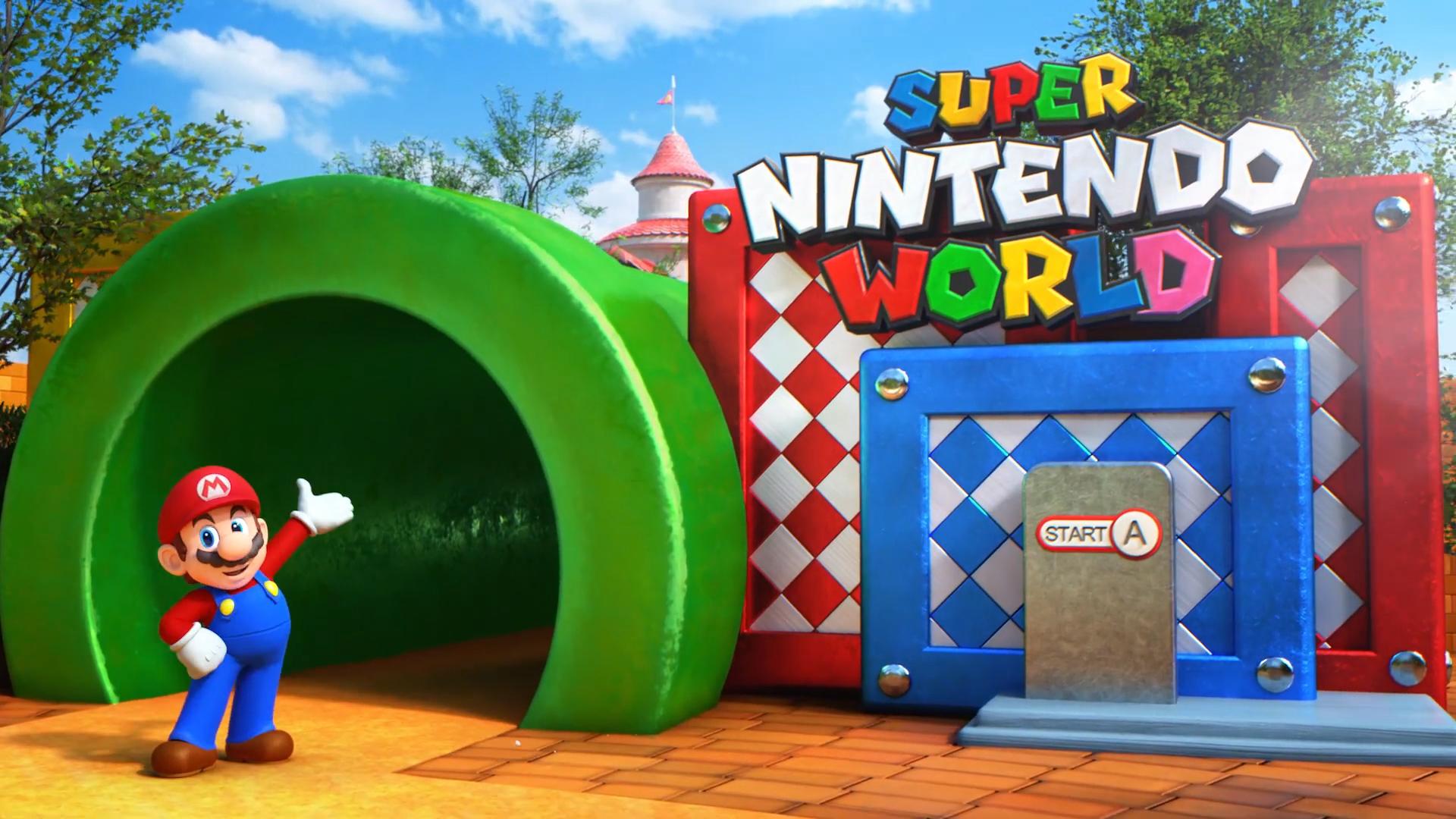 Un concept mostrerebbe l'aspetto del Super Nintendo World, il parco divertimenti Nintendo