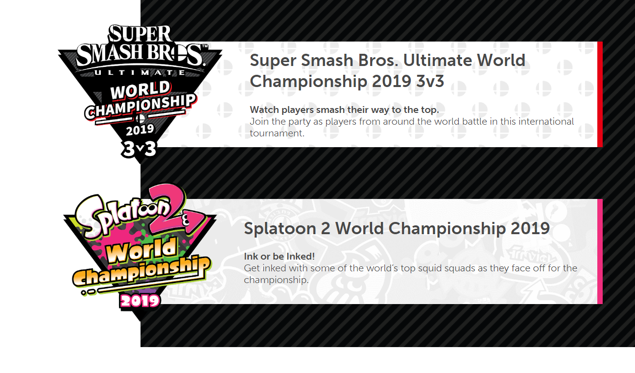 Nintendo ospiterà i Campionati Mondiali 2019 di Smash Bros Ultimate e Splatoon 2