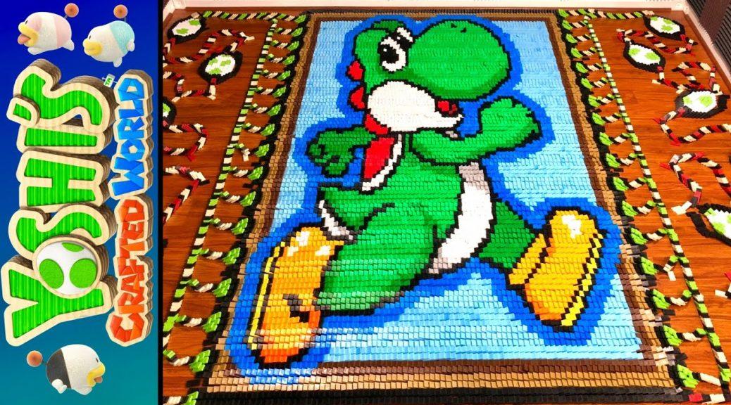 TheDominoKing tributa Yoshi's Crafted World con un domino da 34000 pezzi