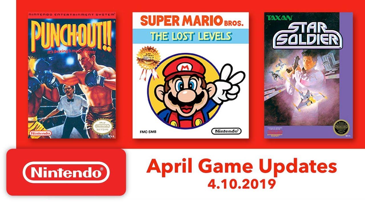 Nintendo Switch Online: giochi di Aprile 2019
